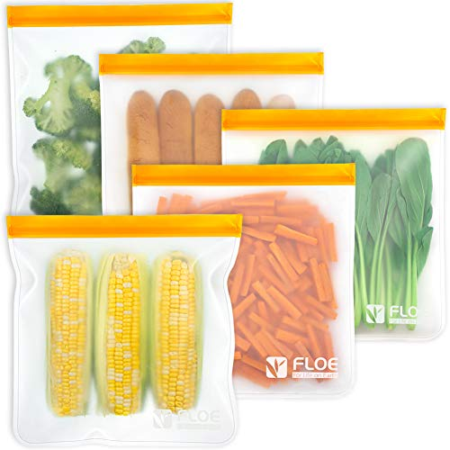Reusable Freezer Bags - Set of 5 Gallon Bags