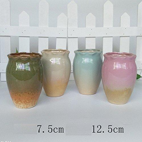 QYL Smaak bloempot grote diameter aardewerk branden ademend keramiek eenvoudig groot retro Home persoonlijkheid oude pile D
