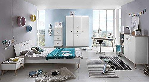 lifestyle4living Jugendzimmer, komplett, Set, Jungen, mädchen, Jugendzimmerm l, Kinderzimmer, Kinderzimmerm l, Jugendm l, Kinderm l, Kleiderschrank, Bett