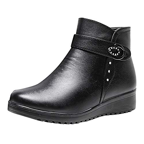 Posional Botines Mujer Planos Sandalias Tacon 3.8Cm Zapatos Mocasines Transpirable Chelsea Boots...