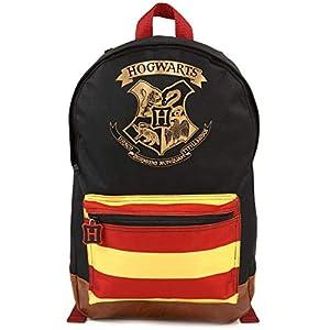 Mochila de Harry Potter Hogwarts Crest Mochila Grande Premium Negra 7