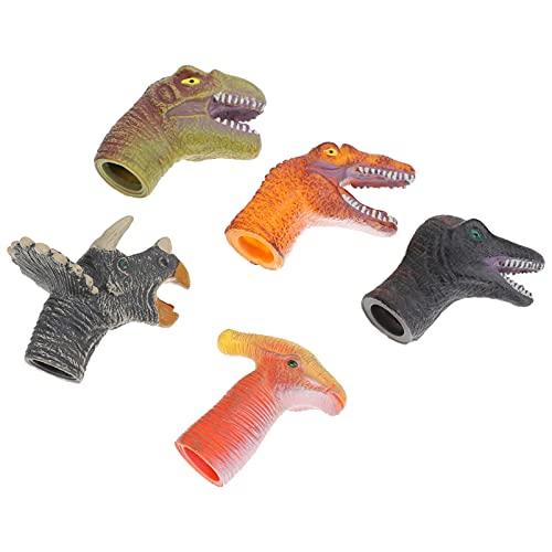 POPETPOP 5 Unidades de Marionetas de Dedos de Dinosaurio Juguetes de Animales Juguetes de Peluche Bolsas de Relleno Juguetes Educativos Juguetes Interactivos Títeres de Mano