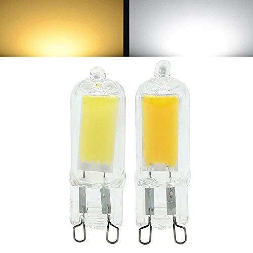 NHDY Mini G9 2W LED COB Ampoule à Lustre halogène de la Lampe Faible AC220V 0916 (Color : Pure White)