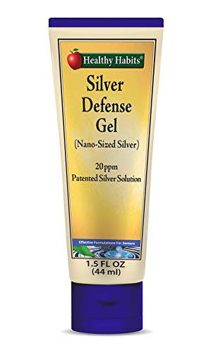 Healthy Habits Silver Defense Gel — Ultra Premium Purified Topical Colloidal Silver Gel with Nano-Technology