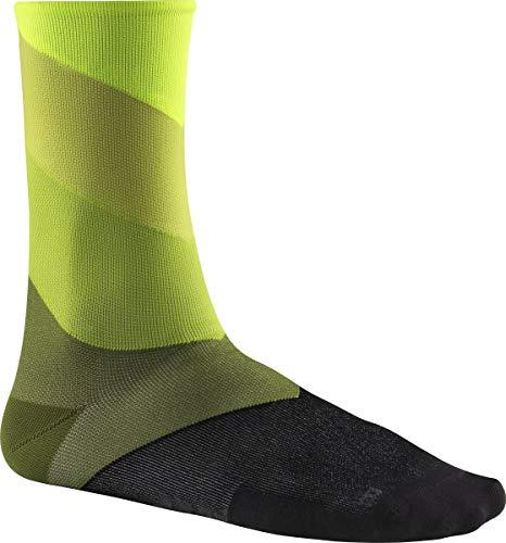 MAVIC Graphic Stripes Fahrrad Socken gelb/schwarz 2020: Größe: M (39-42)