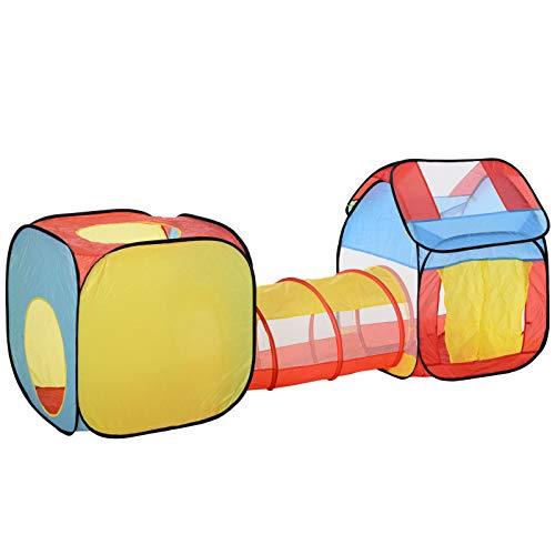 HOMCOM 3 en 1 Casa de Juegos Infantil Tienda de Campaña para...