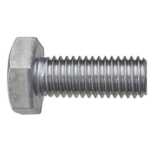 Preisvergleich Produktbild 100 Stück Sechskantschrauben DIN 933 V2A VA Edelstahl M10 x 25 Gewindeschrauben Schrauben