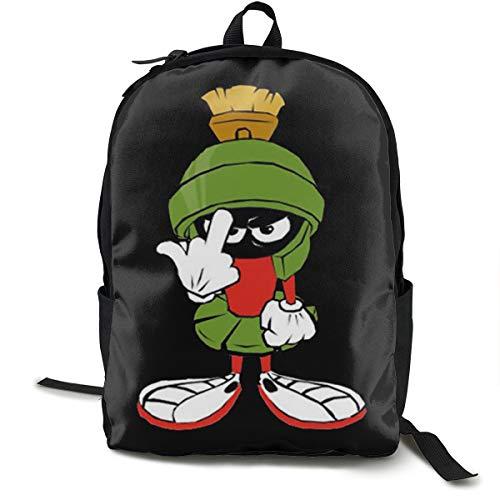 Marvin The Martian Planet Rucksack, Daypack Tagesrucksack Für Schule, Arbeit Und Uni, Sportrucksack Und Schultasche Mit Laptopfach Und Rückenpolster