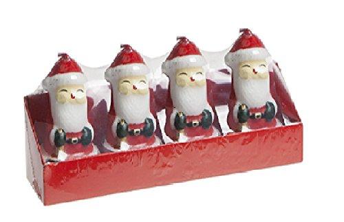 Pack Of 4 - Velas 3D Santa Tealight - Decoraciones de Navidad - Velas de Navidad