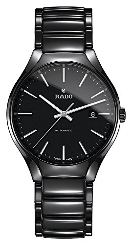 Rado True Herren-Armbanduhr 40mm Armband Keramik + Gehäuse Automatik R27056152