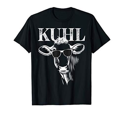 Lustiges Kuh Kuhl wie Kühe mit Sonnenbrille Bauer Geschenk T-Shirt