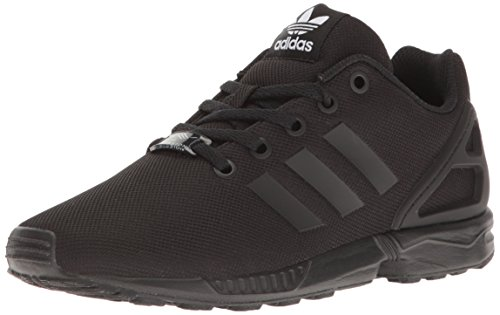 adidas Originals Boys' ZX Flux J Running Shoe, Black, 4.5 M US Big Kid