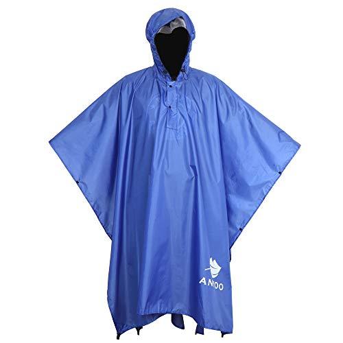 Anyoo Leichter Wasserdichter Regenjacken Ripstop Atmungsaktiver Mehrzweck Regenmantel mit Kapuze für im Freien Camping Wandern