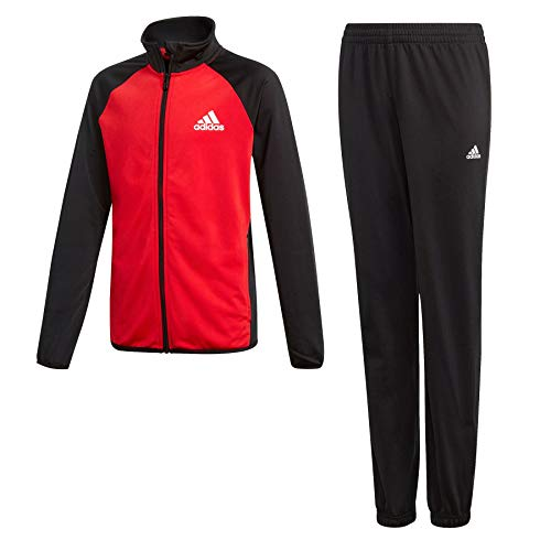 adidas, Yb Ts Entry Ch-Black/Vivred, trainingspak voor jongens