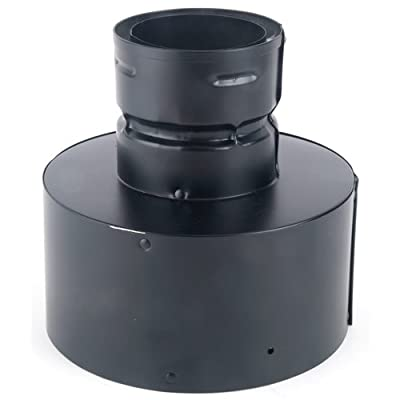 Simpson Duravent PelletVent 3PVL-X6 Double-Wall Air-Insulated Pellet Stove Chimney Adapter, Stainless Steel Inner Wall and Galvalume Outer Wall, Requires A DVL/DuraBlack Chimney Adapter, 6 Inch