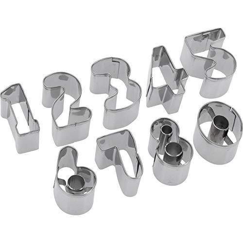 Westmark Ausstechformen-Set, Zahlen, Rostfreier Edelstahl, 0-9, 9-tlg., Silber, 35382280