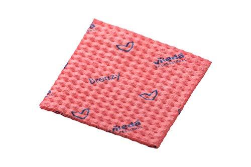Breazy - Paño de microfibra (25 unidades), color rojo