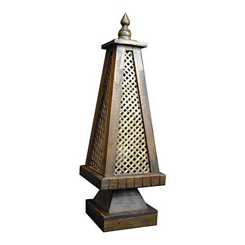 Lamparas De Mesita De Noche Lamparas De Mesa Lámpara de mesa, al estilo chino Sala Small Solid lámpara de mesa de madera, el sudeste de Asia estilo decorativo del hogar lámpara de cabecera, convenient