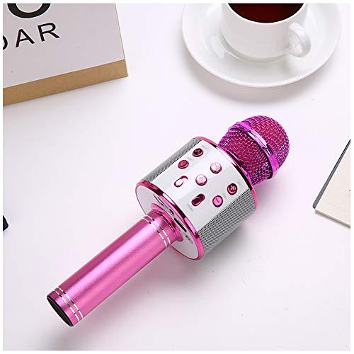 DHQSS draadloze microfoon met Bluetooth karaoke, voor kinderen, draagbare karaoke-microfoon, home party, Kerstmis, verjaardag, luidspreker, machine voor smartphone