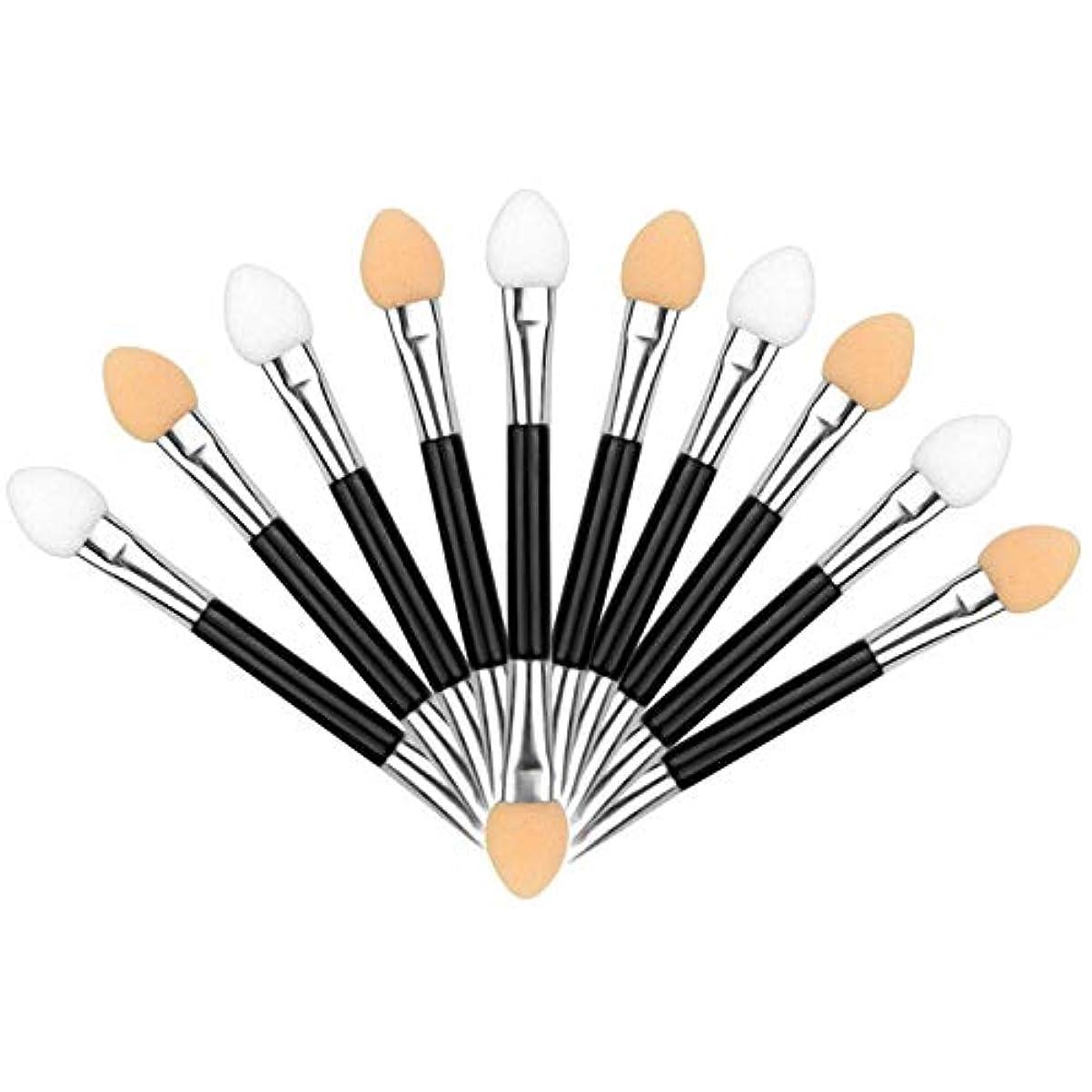 定刻中止します北米アイシャドウブラシ 10本ダブル 化粧ツール アイシャドウスポンジ シリコンチップ 人気 化粧筆 ダブル メイクブラシ 上質なメイクブラシで魅力的な目元を