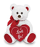 Bearington Beary Bigheart Valentines Plush Stuffed Animal Teddy Bear with Heart, 12 inches from Bearington Collection