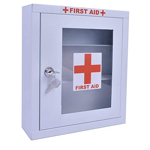 Plantex Emergency First Aid Kit Box for Home/School/Office/Wall Mount/Multi Compartment (White) - H : 320 x W : 280 x D : 80 mm