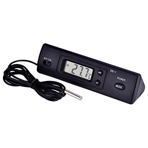 Termometro Elettronico,Termometro Digitale LCD con Sensore Sonda Esterno Wired Monitor Della Temperatura Interna ed Esterna per frigoriferi, condizionatori, congelatori, acquari, case, uffici, automob