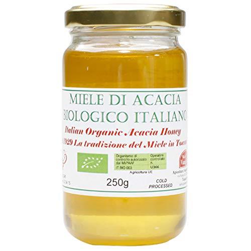 【非加熱】オーガニック 生 はちみつ アカシア イタリア産 250g EUオーガニック認証 蜂蜜/ハチミツ 完全無添加