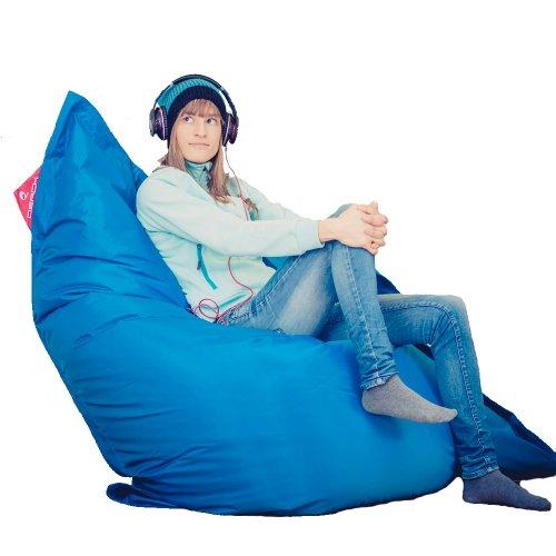 XXL Sitzsack QSack Outdoorer mit deutscher Qualitätsfüllung, 140 x 180 cm (blau)