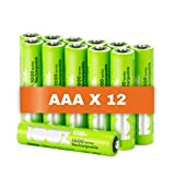 100% PeakPower Akku AAA, 12 Stück AAA Batterien wiederaufladbar, min. 800mAh, NiMH Technologie, ohne Memory-Effekt, 1,2 Volt (1,2V), LSD Technologie, Ready-to-Use