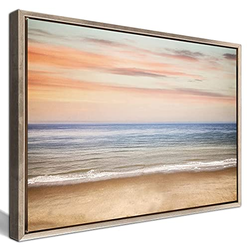 Gardenia Art Watercolor Beach Linen Canvas Prints Wall Art Seaview Pictures Paintings Stretched Framed Modern Artistic Artwork for Living Room Bedroom Kitchen Office Decoration 20'x28' 1 Piece Set