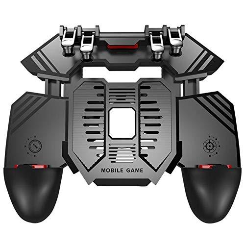 Botón Controlador Ayudante PUBG Teléfono Móvil Radiador Seis Dedos Vinculación del Juego De Disparo Rápida Compresión Física De La Manija del Ventilador del Radiador