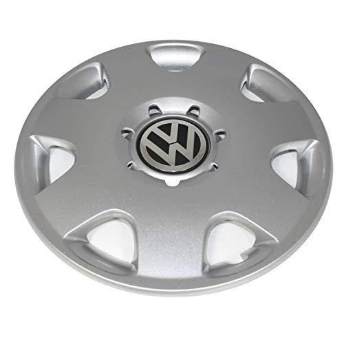 Volkswagen 6Q0601147M Radkappe (1 Stück) Radzierblende Stahlfelgen 14 Zoll Radblende brillantchrom