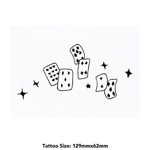 Azeeda Groß 'Kartenspielen' Temporäre Tätowierungen (TO00019955)