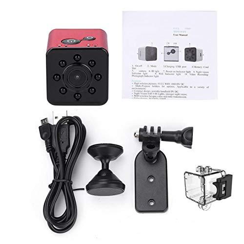 DAUERHAFT Cámara de visión Nocturna portátil con cámara HD de 12MP de Almacenamiento Grande, para Deportes al Aire Libre, para Amantes de los fotógrafos(Red)