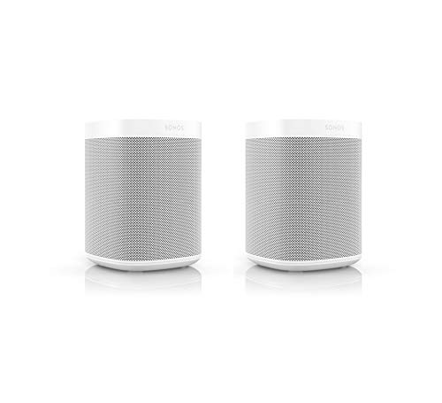 Sonos One SL Smart Speaker (Kraftvoller Sound, WLAN Streaming mit Multiroom und App Steuerung sowie AirPlay2) (2er Set, weiß)
