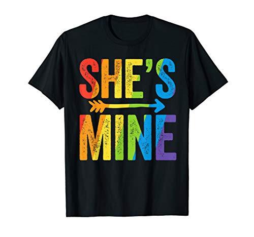 She's Mine Lesbian Pride T-Shirt LGBT Bride Wedding Pride T-Shirt
