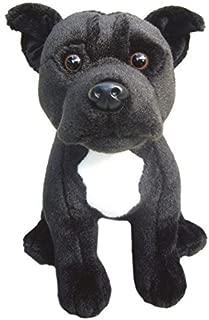 Faithful Friends Staffordshire Bull Terrier (Black) Soft Toy 12