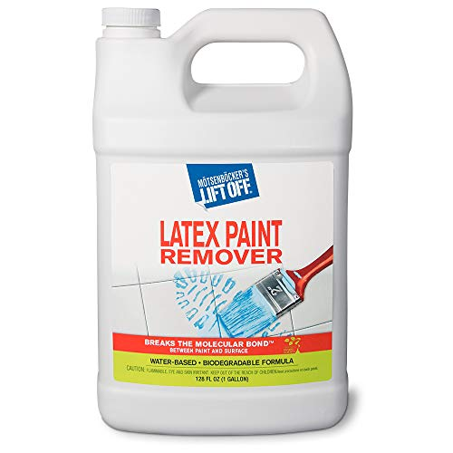 Motsenbocker's Lift Off 41401 128-Ounce Latex Paint Remover Spray is Environmentally Friendly Safely Removes Latex Paint and Enamel and Works on Multiple Surfaces Water-Based and Biodegradable