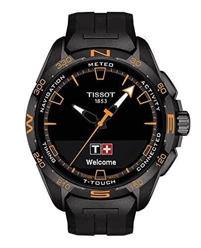 Tissot orologio T-Touch Connect Solar 47,5mm Nero quarzo Titanio finitura PVD Nero T121.420.47.051.04