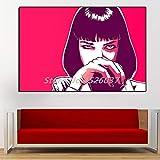 Poster Pulp Fiction Uma Thurman Poster Film Gemälde auf