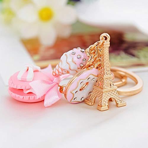 YDMZMS Schlüsselanhänger mit süßem Torten-Motiv und Schlüsselanhänger, für Handtasche und Damen, Anhänger mit Schlüsselanhänger, für Auto, Geschenke rosa
