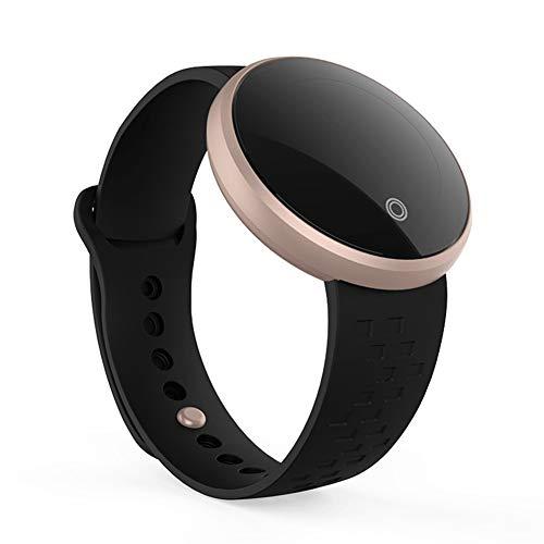 B36 Fitnesstracker voor vrouwen, Android/iOS, waterdichte smartwatch, verstelbare armband, touchscreen, Bluetooth, outdoor-stappenteller, bloeddruk, hartslagfrequentievrij, maat zwart