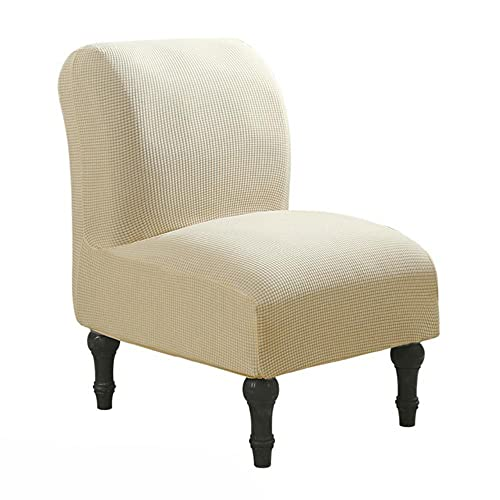 USEFGSBSGGAIUFH Funda para silla sin brazos Protector de tela de punto Stretch Cubiertas lavables Talla única Fácil de instalar a prueba de polvo extraíble suave-beige, Estados Unidos