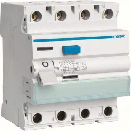Hager CDA425D - Interruptor diferencial (25 A, 30 mA, Tipo A, 4 Pines)