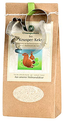 Chiemgaukorn Bio Chiemgauer Knusper-Keks, Backmischung mit Keks-Ausstecher 270 g