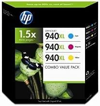 HP 940XL 3 Color Combo (CYAN, MAGENTA, & YELLOW) Officejet Ink cartridges