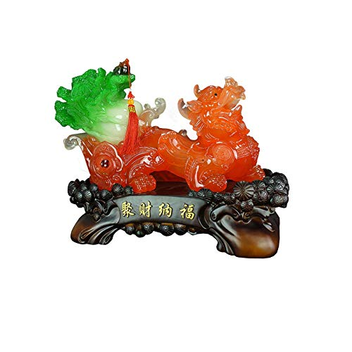 Inicio Accesorios Obras De Arte Esculturas Estatua De Pi Xiu Decoración Jade Repollo Recolección Apertura De Riqueza Felicitaciones Regalos Sala De Estar Oficina Escritorio Decoraciones Para El Hogar