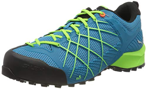 Salewa WS Mountain Trainer Mid Gore-TEX, Chaussures de Randonnée Hautes Femme, Bleu (Atlantic Deep/Ombre Blue), 42 EU