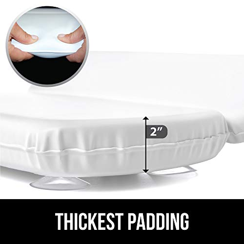 Gorilla Grip Spa Bath Pillow, Comfortable, Soft, Large, Luxury 2 Panel Design for Shoulder, Neck Support, for Hot Tub, Jacuzzi, Spas, Features Powerful Grip Technology, 14.5x11, White